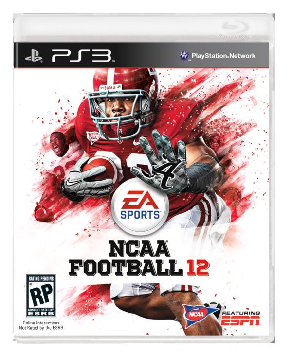 Mark Ingram on the cover of NCAA Football 12